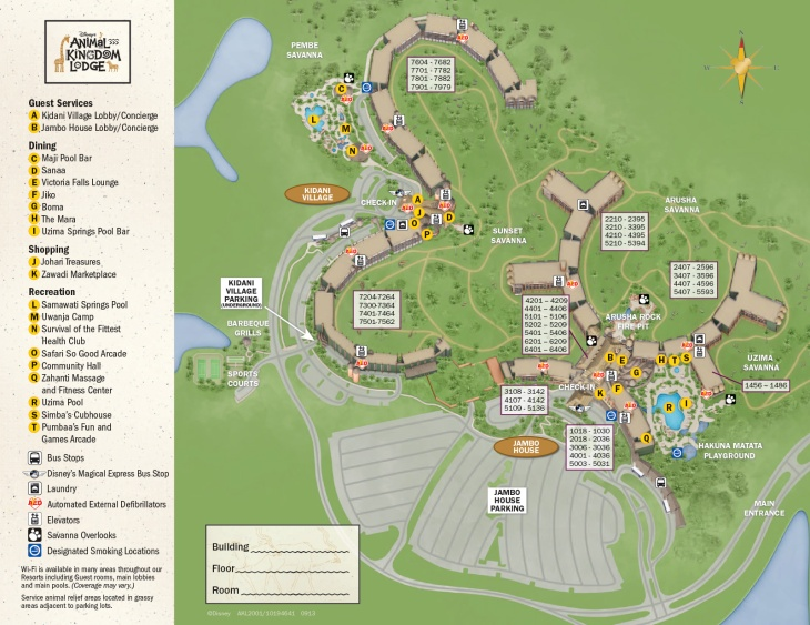 Resort Map - Animal KIngdom Lodge 2