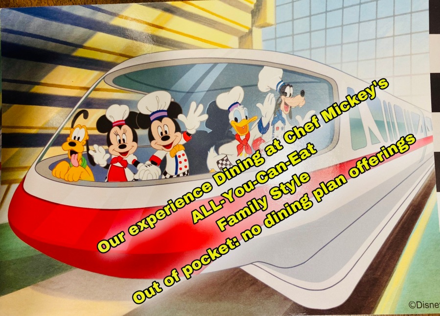 Chef Mickey's All-You-Can-Eat          FAMILY STYLECOST